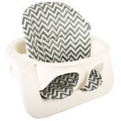 Highchair cushion Ukje Stokke Steps - Grey with leaves - Coated ♥