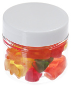 50ml Pet Clear Jar with Plastic Lid 40 Pieces, White