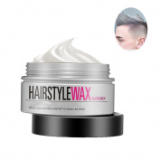 Hair Colour Wax Instant Hair Cream Hairstyle Cream Professional Hair Pomades 130ml Long-lasting Natural Silver Grey Matte Hairstyle Wax for Men and Women for Party, Cosplay, Nightclub,Halloween