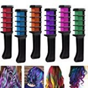 Temporary Hair Chalk Comb, Professional Combs For Hair Dyeing,Disposable Hair Dye Comb for Parties Cosplay, Hair Colour Tools 6PCS