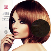 Hair Dye Professional Permanent Natural Colour With Ammonia 4/0 Natural Brown Made in Italy