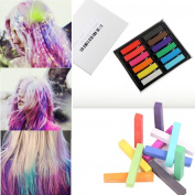 SO-buts 12 Colours Disposable Fluorescent Crayons Hair Colouring Rod Hair Colouring Chalk