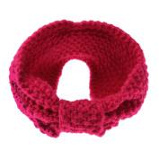 Domybest Women Kids Crochet Knit Headband Winter Ear Warm Bow Hair Band Headwrap Gift