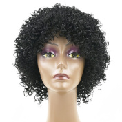 Fouriding Short Kinky Curly Wig Synthetic Natural Sexy Full Wigs Hair Hairpiece for Black Women