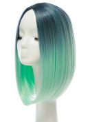 LA HAUTE Women Short Wigs Fashion Natural Bob Wigs Gradient Colour Party Cosplay Wig,30CM