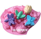 Cute Insects Butterflies Shape Silicone DIY Handmade Soap Cake Cookie Ice Tray Moulds Kitchen Tools by Clest F & H