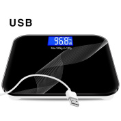 USB Square Electronic Weighing Scales, Tempered Glass, Charging Fast, KG As A Unit