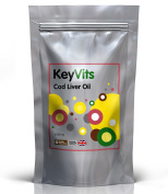 Cod Liver Oil Capsules 1000mg   360 Capsules   High Strength   UK Manufactured   KeyVits   Introductory Offer