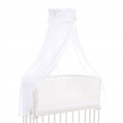 Babybay Organic Cotton Canopy, White