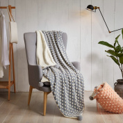 kemai Blanket Thick Cotton Wool Blanket Plus with Hair Bulb Warm and Soft, grey, 150_x_200_cm