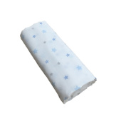 GLOOP. Cotton Swaddle Stars Blue 100 x 100 cm