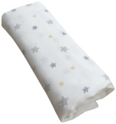 GLOOP. Cotton Muslin Swaddle Stars 100 x 100 cm
