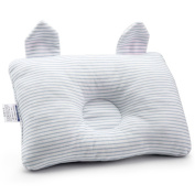 Affe Baby Pillow New Born Baby Cotton Pillow Preventing Flat Head, Blue