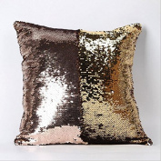 Kicode 1Pc Sequins Pattern Cushion Cover PillowCase Decorative Pillow cases for Home Sofa Office