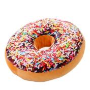 Omkuwl Creative Sweet Treats Donut Seat Back Stuffed Cushion Pillow Plush Toy Colourful World 40*11cm