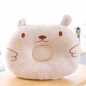 Affe 1 Pcs Baby Boy/Girl Cute Bear Pillow- New Born Baby Cotton Pillow Preventing Flat Head