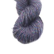 Luxury Acrylic Knitting Wool Yarn for Handmade Scarf Sweater Yarn With Gold Line-Grey