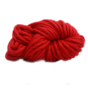 Anti-pilling Thick Acrylic Yarn Soft Scarf Knitting Wool Hand-knitted Work Wool-Bright Red