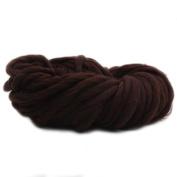 Anti-pilling Thick Acrylic Yarn Soft Scarf Knitting Wool Hand-knitted Work Wool-Coffee