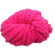 Fashion Polyester Knitting Wool Yarn for Handmade Scarf Sweater Yarn Super Thick-Rose Red