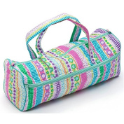 Multicolour Stripes Knitting Bag.