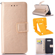 Galaxy J7 2016 Phone Case, Galaxy J710 Leather Cover, Galaxy J7(2016) Pure colour PU Leather Case (With Hand Strap & Card Slots), Fashion Not Embossing/Painting Shell Soft Silicone Rubber inner Cover Shock proof Full body Protective Cases and Cover for ..