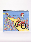 Blue Q Hellraiser. With Girl on Bike Zipper Pouch by Blue Q