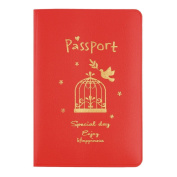 1pc 3 Colours Simple ID & Document Holder Utility Leather Travel Passport Holder Cover ID Card Bag
