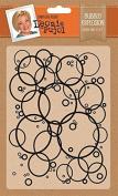 "Leonie Pujol ""Bubble Explosion"" Embossing Folder, White"