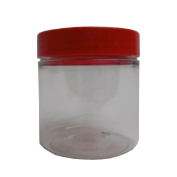 5x 250 ml millilitre PET Jar with variety of coloured lids for Storage, Food,...