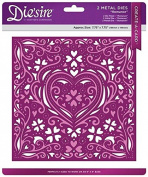 Die'sire 8 x 8 Create A Card - Romance, Silver