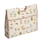 Hobby Gift HGCB/238 | Woodland Fox Print Craft/Knitting Storage Bag 11x43x33½cm