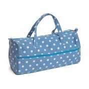 Hobby Gift MR4698/188 Denim Spot Print Knitting Bag 15x42x17½