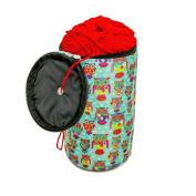 Knitting Yarn Holder, Wool Storage Bag In Funky Owl