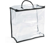 3 Medium Clear Vinyl Storage Bags for Crafts | Craft Storage Containers