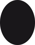 Securit Silhouette Oval Chalk Board, Melamine Resin, Black, 30 x 50 cm