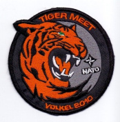 IRON ON EMBROIDERED PATCH TIGER MEET, NATO, VOLKEL 2010
