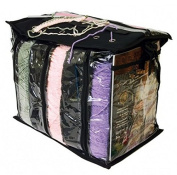 Knitting and Craft Storage Bag - 6 Wool Compartments - Black