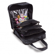 Sewing Accessories Case, Knitting and Craft Organiser Storage Bag in Imperial Black