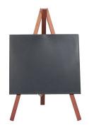 Securit Lacquered Tripod Table Chalk Board, Wood, Mahogany, Mini, 24 x 15 cm