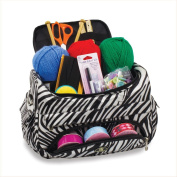 Knitting Bag Sewing Accessories And Craft Needle Storage Organiser Case in Zebra