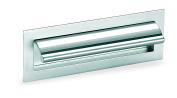 Schwinn 22584 Handle, Furniture Handle, Handle Shell, Scallop Grip, Zamak, Drilling Distance 128 mm, Shiny Copper