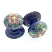 Pair of 35mm Ceramic Drawer Pulls/ Cabinet Doorknobs - Old Tupton Ware - Lily Design