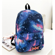 Fashion Unisex Galaxy Style Travel Backpack Leisure Bags Bookbags School Bag Blue
