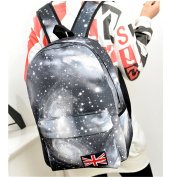 Fashion Unisex Galaxy Style Travel Backpack Leisure Bags Bookbags School Bag Black