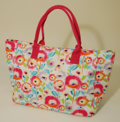 Craft / Tote Bag - Double Fabric Handles - Josephine - Fabric features a floral design