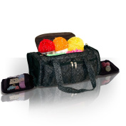 Knitting Bag, Sewing Accessories And Craft Needle Storage Organiser Case, Bella Bag In Imperial Black