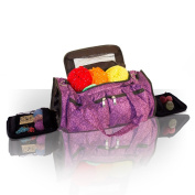 Knitting Bag, Sewing Accessories And Craft Needle Storage Organiser Case, Bella Bag In Imperial Purple
