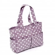 Hobbygift Value Craft Bag, PVC, Mauve Spot