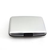 Aluminium Metal Pocket Waterproof Business ID Credit Card Wallet Card Pouch Silver